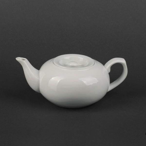 Чайник-боченок керамический белый 500 мл