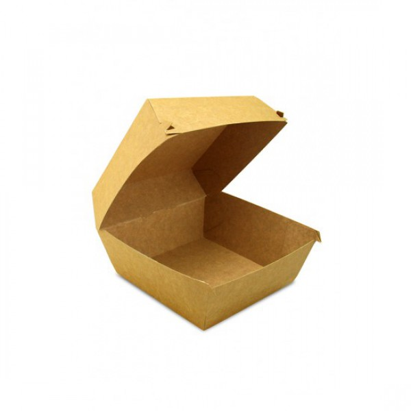 Крафтовая коробка для бургера BIG SIZE, 130*130*100 мм (100 шт/уп)