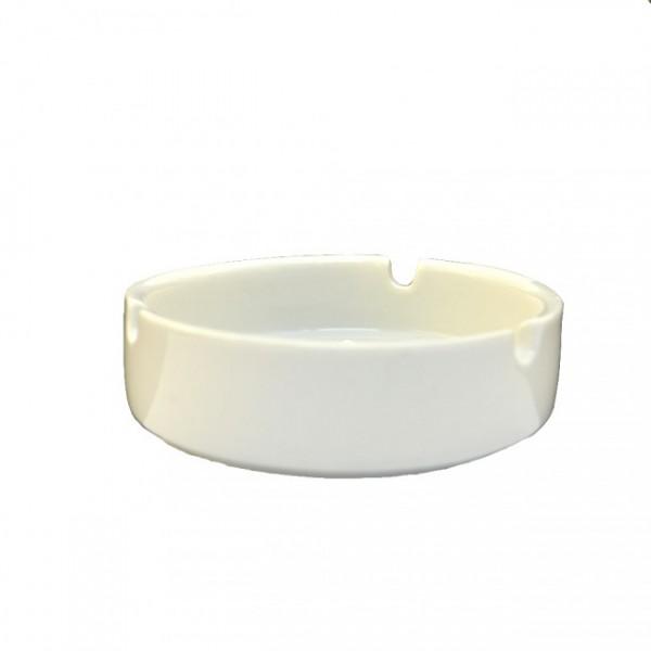 Пепельница белая керамическая 10 см