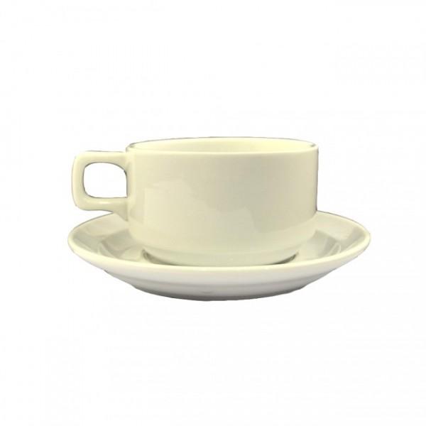 Набор чайный белый - блюдце и чашка 280 мл