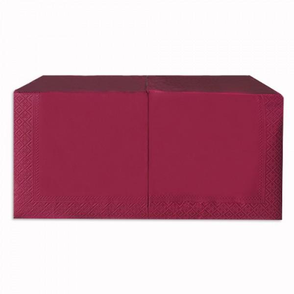 Салфетка 2-х слойная 33х33 см бордо (250шт/уп)