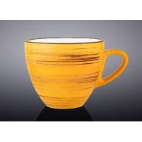 Чашка чайная Wilmax SPIRAL YELLOW 190мл