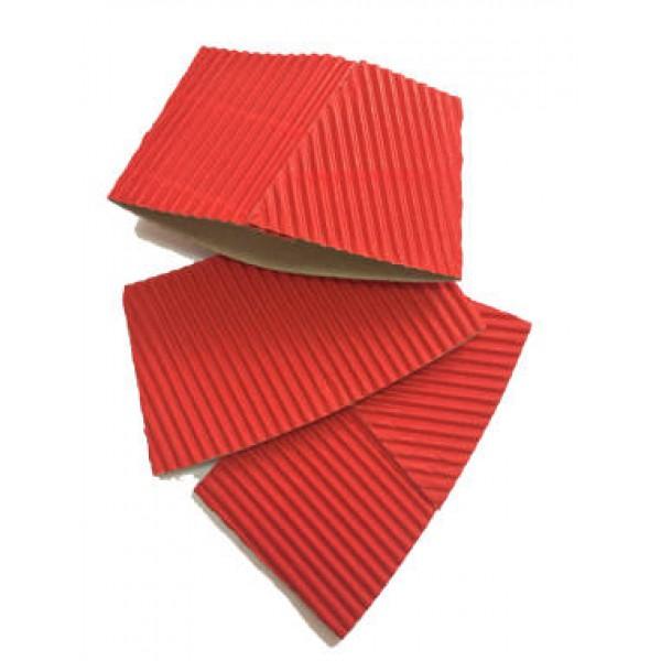 Термочехол на стакан красный, 100 шт/уп