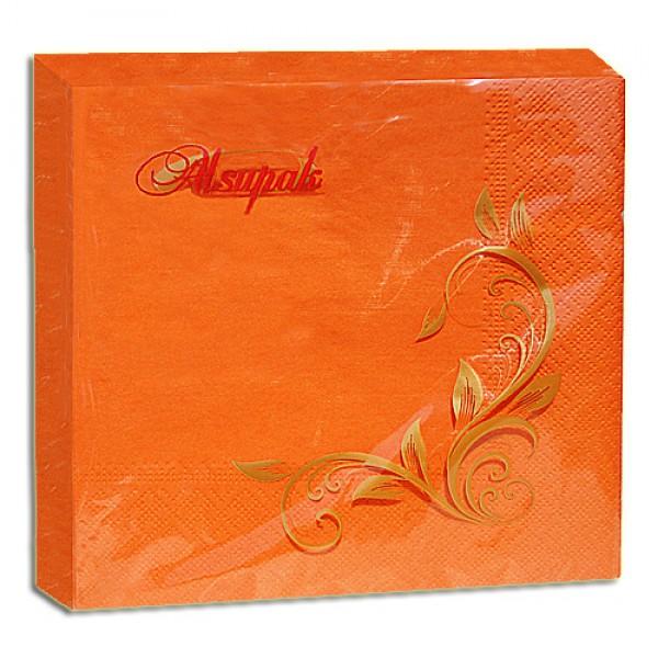 Салфетка 2-х слойная 33х33 см оранжевая (100шт/уп)