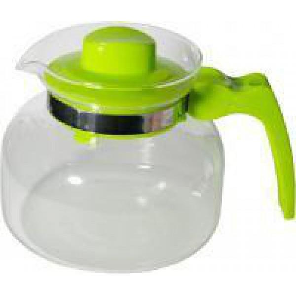 Стеклянный чайник с пластиковым заварником Ewa, 1.5 л