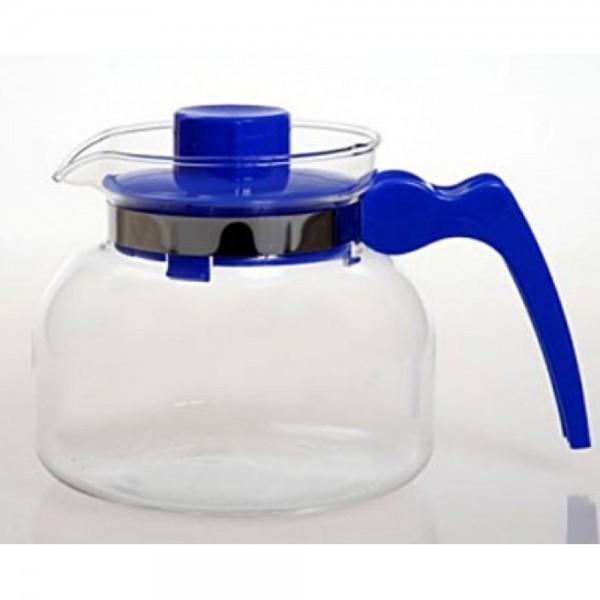 Стеклянный чайник с пластиковым заварником Maja, 1.85 л