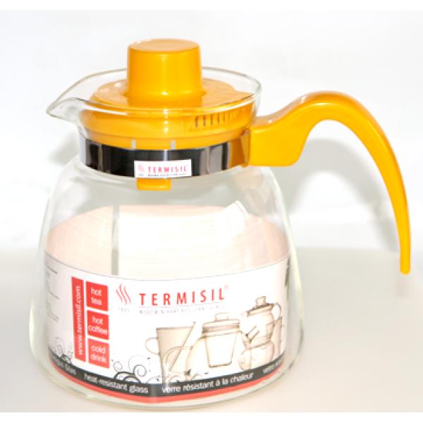 Стеклянный чайник с пластиковым заварником Ewa, 2.1 л
