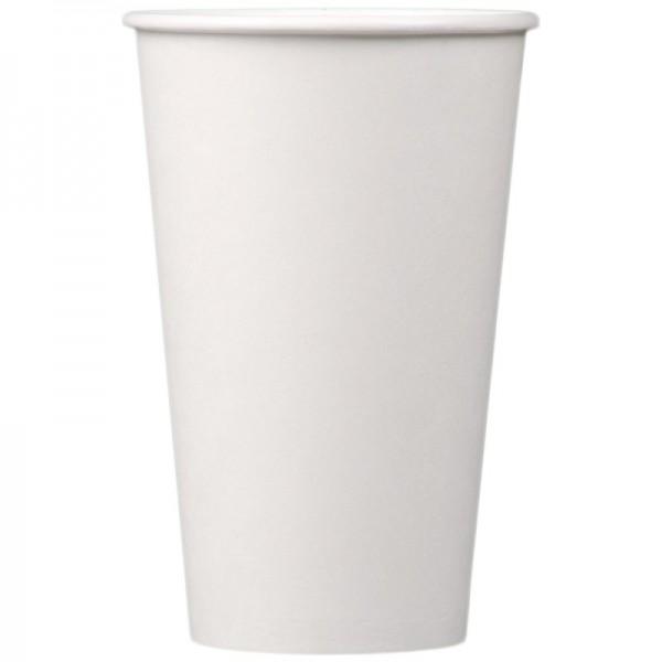 Бумажный стакан белый 500 мл (25 шт/уп)