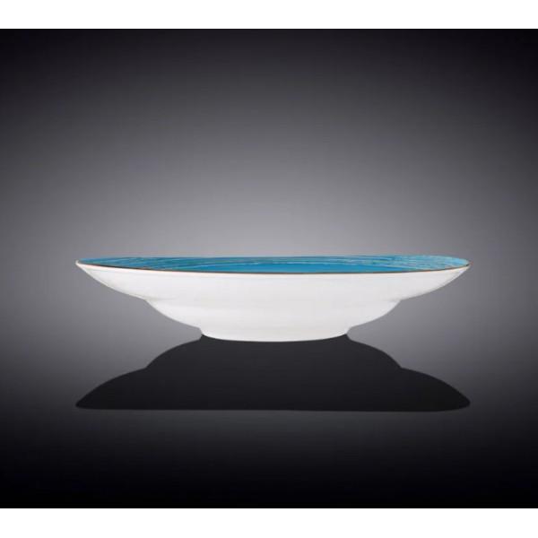 Тарелка глубокая Wilmax SPIRAL BLUE d-25.5 см,  v-350 мл