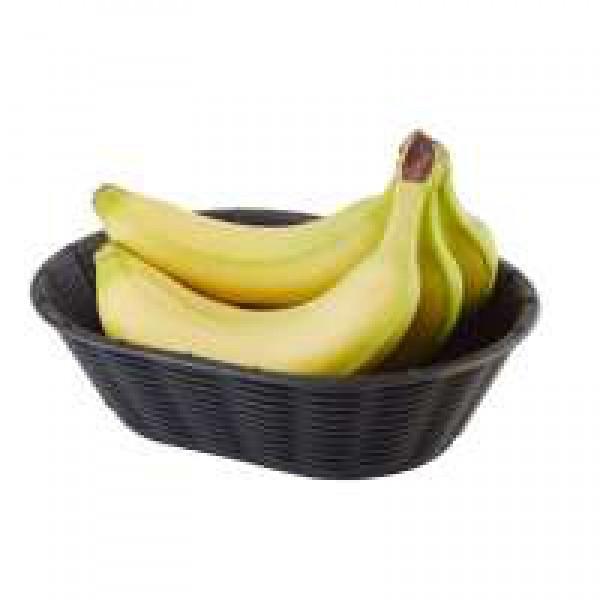 Корзинка овальная для фруктов и хлеба 23х17 см черная