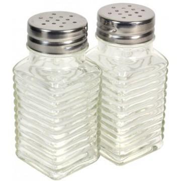 Набор: солонка и перечица стеклянные, 100 мл