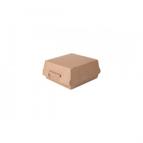 Крафтовая коробка для бургера, 120*120*70 мм (50 шт/уп)