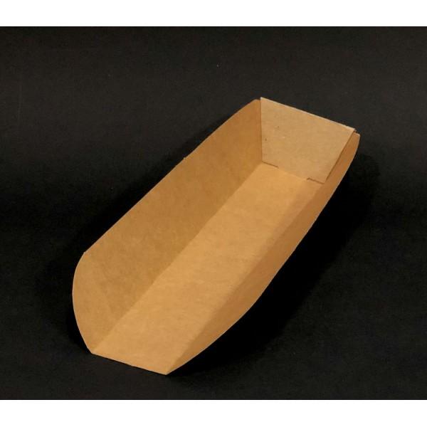 Крафтовая тарелка для хот-дога, шаурмы 28 см (100 шт/уп)