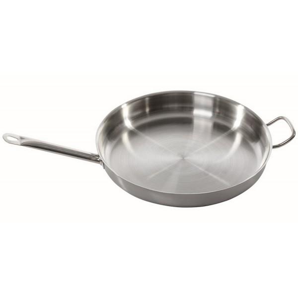 Сковорода нержавеющая сталь с доп ручкой 40 см