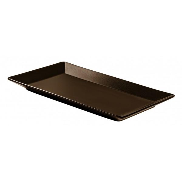 Блюдо прямоугольное коричневое Tokyo, 34x22 см