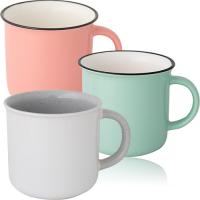 Чашка ретро 420 мл, фарфор (разные цвета)