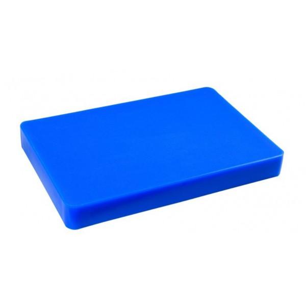 Доска разделочная пластиковая синего цвета 440*300*50 мм