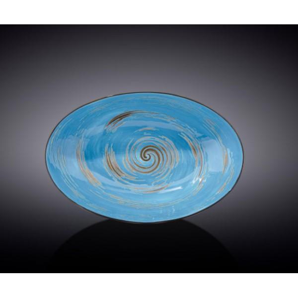 Блюдо овальное глубокое Wilmax SPIRAL BLUE 25х16,5х6см