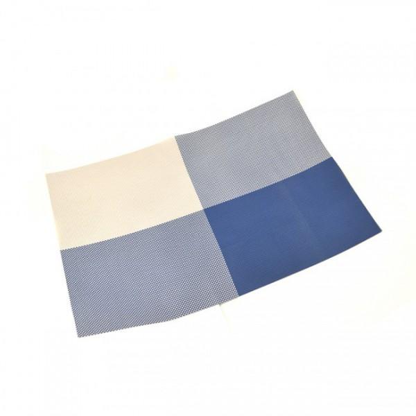 Салфетка сервировочная 4-цветная, синяя, 30х45 см