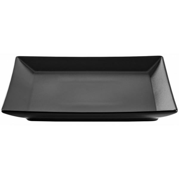 Тарелка обеденная IPEC TOKYO черная 26х26 см