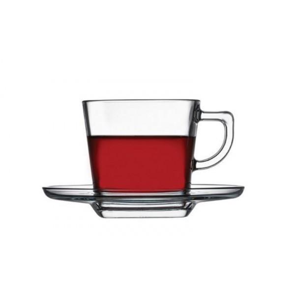 Чашка с блюдцем для чая 210 мл Baltic Pasabahce (95307)
