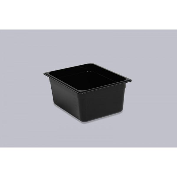 Гастроемкость поликарбонат черная GN 1/2-150
