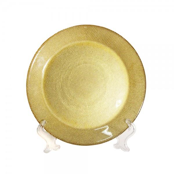 Тарелка Золото 22 см