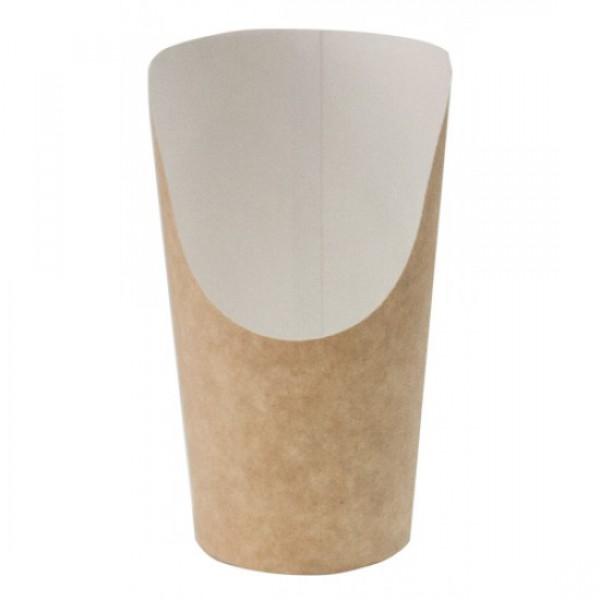 Крафтовый стакан для снеков, 88*130*61 мм (25 шт/уп)