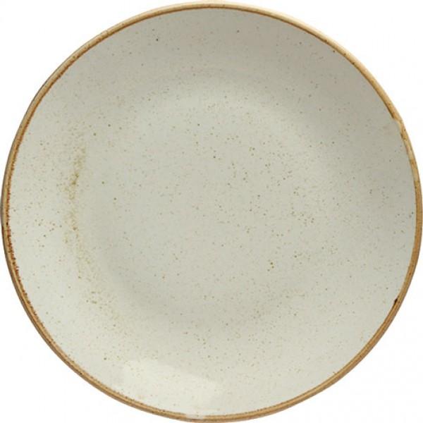Тарелка обеденная беж Seasons, 28 см