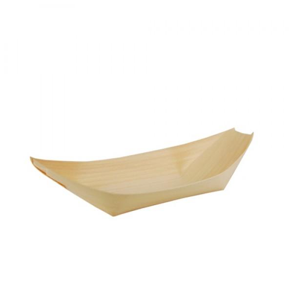 Деревянная тарелка-лодочка 190х100 мм (50 шт/уп)