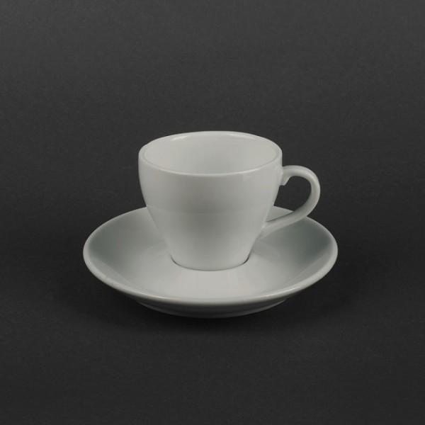 Набор чайный белый - блюдце и чашка  150 мл