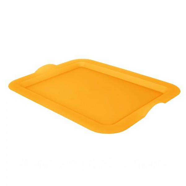 Поднос пластиковый 45х30х4 см желтый