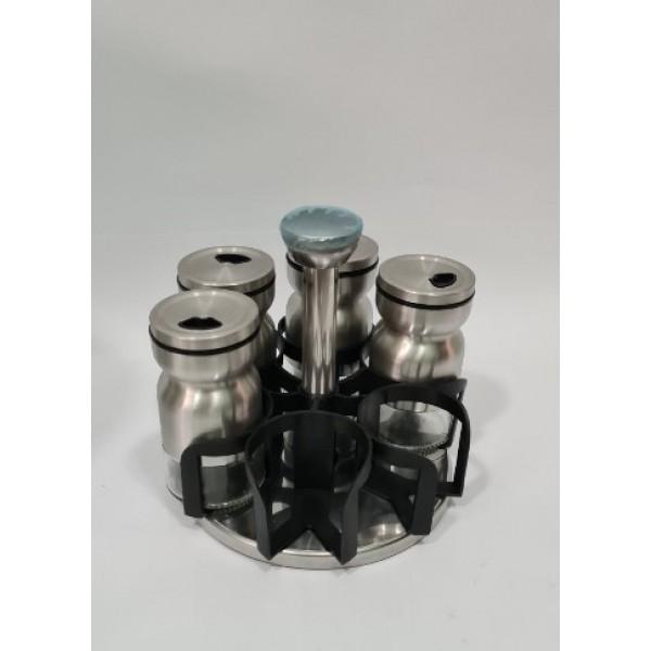 Органайзер для специй на 6 стеклянных емкостей,Н 150 мм