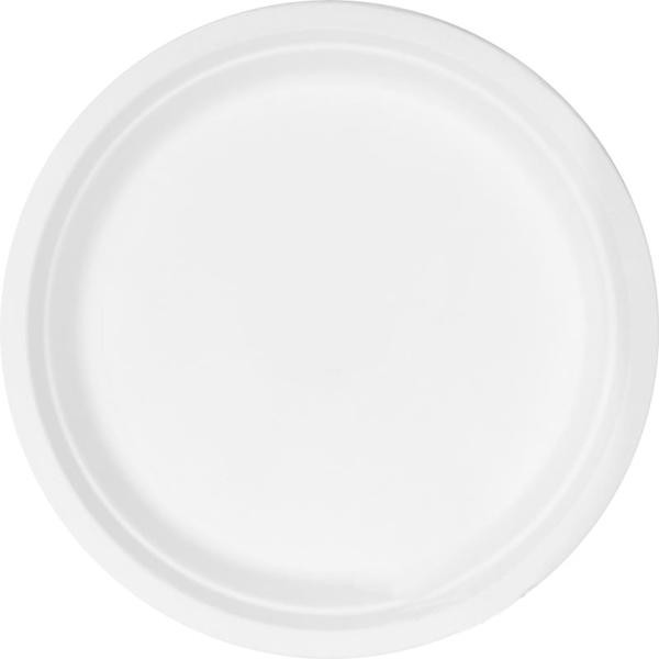 Биоразлагаемая тарелка Ekola 22 см (125 шт/уп)