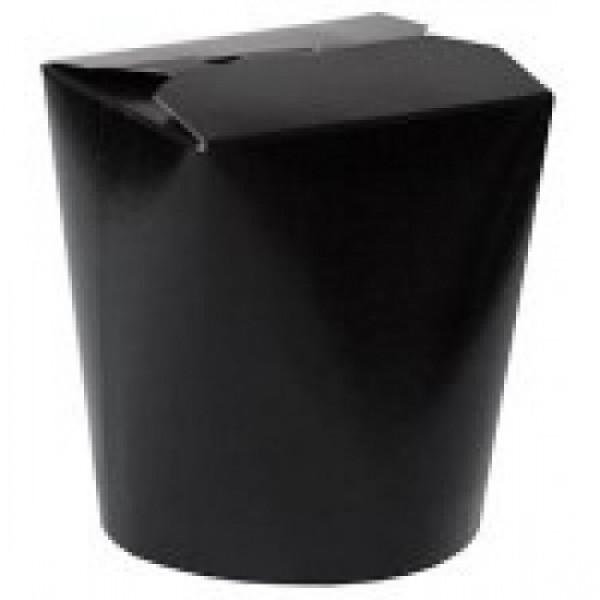 Крафтовая коробка для лапши черная, 750 мл (50 шт/уп)