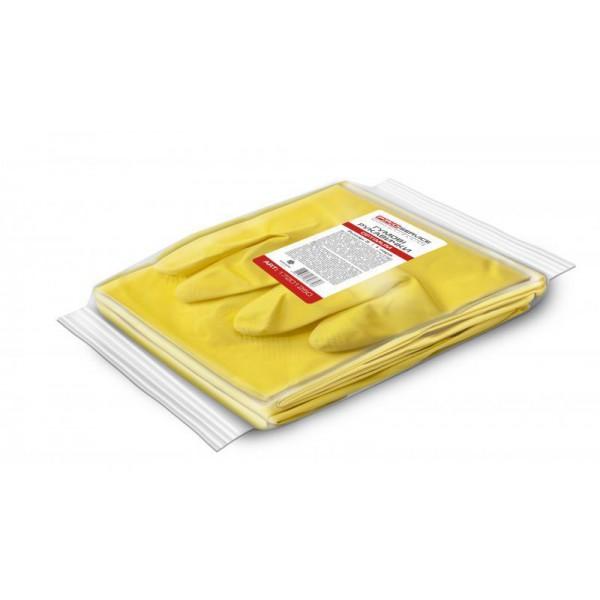 Перчатки латексные универсальные, желтые, Optium, раземр S (1 пара)