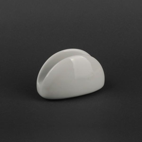 Салфетница полукруг белая, керамическая