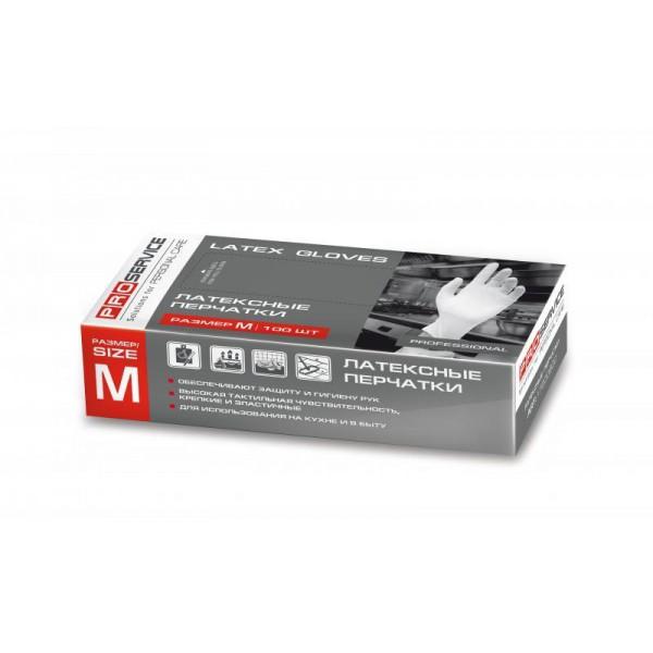Перчатки латексные одноразовые Professional, раземр М (100 шт/уп)