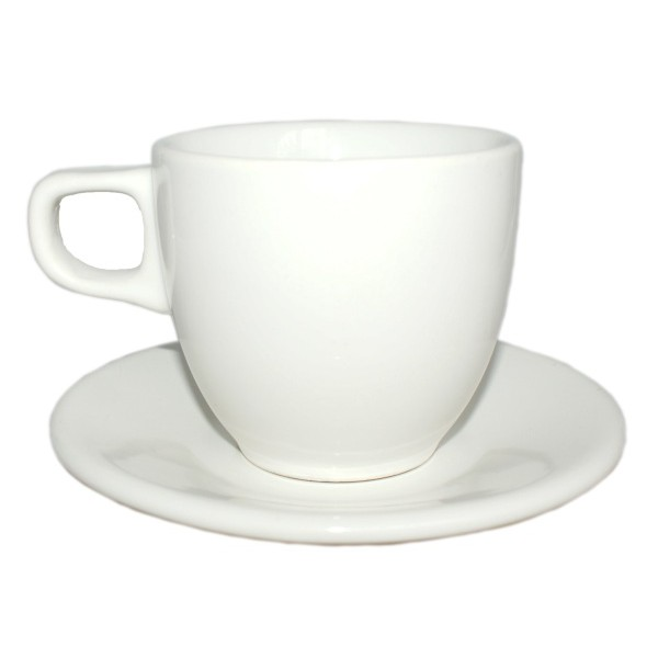 Набор кофейный белый (чашка 200 мл)