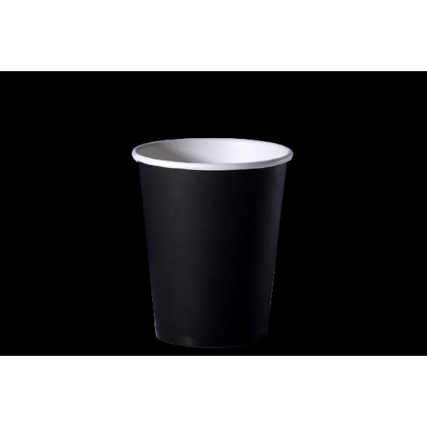 Бумажный стакан черно-белый 250 мл (50 шт/уп)