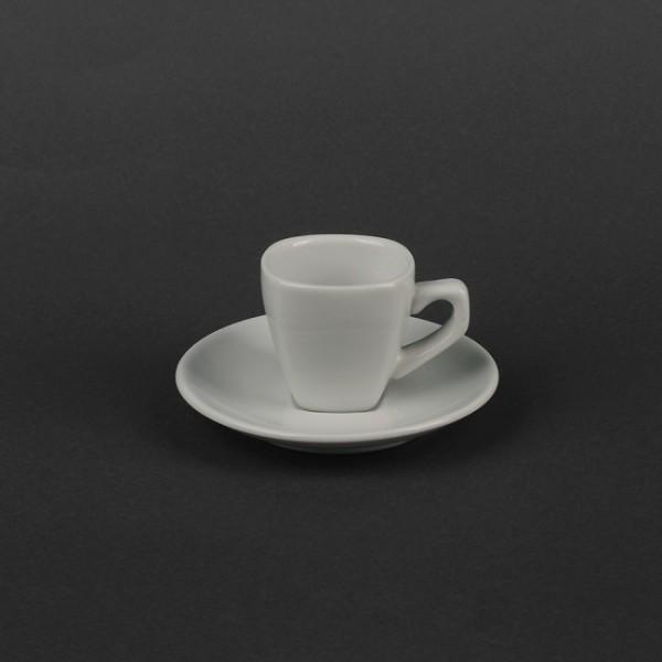 Кофейный набор керамика: квадратная чашка 70 мл с блюдцем