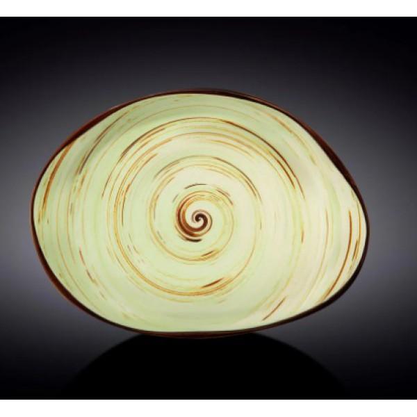 Блюдо камень Wilmax SPIRAL PISTACHIO 33х24,5 см