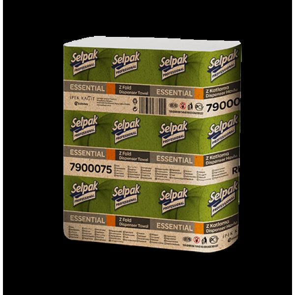 Selpak Pro. Essential Бумажное полотенце Z-скл. Однослойные 250 шт.