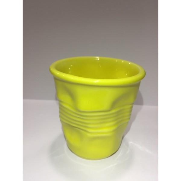 Стакан мятый, керамика, 360 мл, желтый