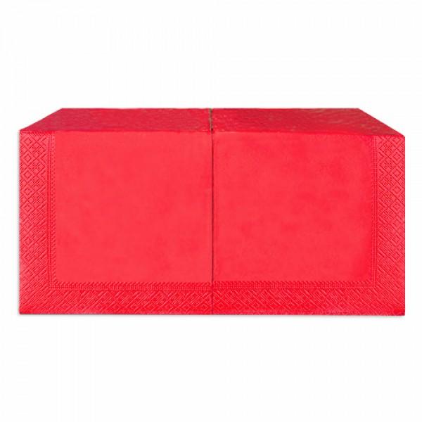 Салфетка 2-х слойная 33х33 см красная (250шт/уп)