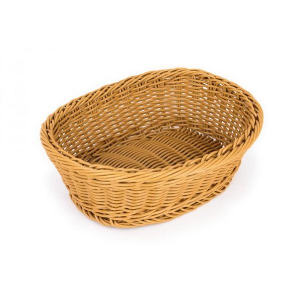 Корзина для хлеба овальная, 25,5х20,5  см