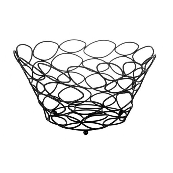 Ваза для фруктов RINGEL Oder металлическая высока, черная (RG-9001-290b)