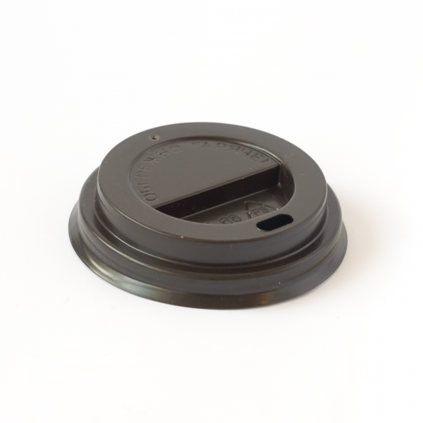 Крышка на бумажный стакан 240-250 мл коричневая D-80 (50 шт/уп)