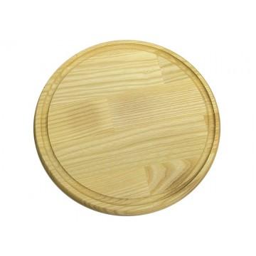 Доска для подачи с желобом 26 см, ясень