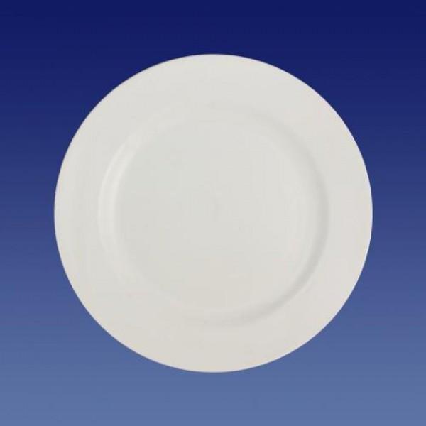 Тарелка белая фарфоровая мелкая, 175 мм